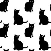 Pattern of cats — Stock Vector