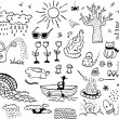 Stock Vector: Season Doodles