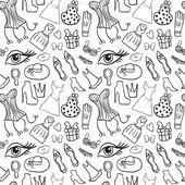Women accessories seamless pattern — Vector de stock