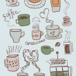 Coffee and tea sketches — Stock Vector