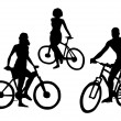 Bicyclists Silhouettes — Stock Vector #46014431