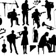 Musicians Silhouettes — Stock Vector #46014595