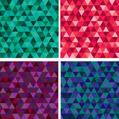 Set of geometric backgrounds — Stock Vector