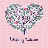 結婚式招待状 — ストックベクタ