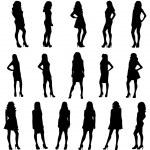 Posing women silhouettes — Stock Vector #51178177
