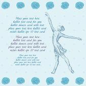 Ballet dancer card — Stock Vector