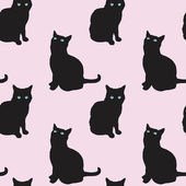 Cats Seamless Pattern — Stock Vector