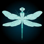 Blue Dragonfly — Stock Vector