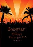 Vacanze estive — Vettoriale Stock