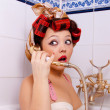 Stock Photo: Suprised pin-up girl