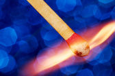 Matchstick Catching Fire — Stock Photo