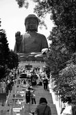 Giant Buddha Statue at Po Lin Monastery, Hong Kong — Stock Photo
