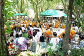 Thai Buddhist ordination ceremony — Stock Photo