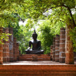 A replica of Buddha in the garden — Stock Photo