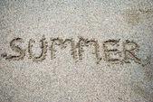 χειρόγραφες σε παραλία με άμμο — Φωτογραφία Αρχείου