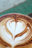 Close up cappuccino coffee on table — Stock Photo
