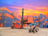 Containers in the port of Laem Chabang in Thailand — Photo