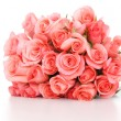 Stock fotografie: Pink roses on white background