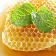 Sweet honeycombs with mint leaf — Foto de stock #41171083