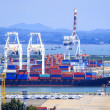 Stock Photo: Commercial container port