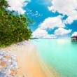 Maldives Water villas in the ocean — Stock Photo #32937283