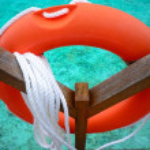 Life saving rubber ring — Stock Photo #32938613