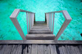 Steps into the ocean — Stock Photo
