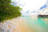 Beautiful beach house in Maldives — Stock Photo
