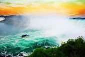 Vivid Niagara falls, Ontario, Canada — Stock Photo