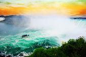 Vivid Niagara falls, Ontario, Canada — Stock Photo