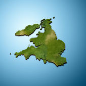 3D map of United Kingdom — Stockfoto