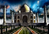 Taj-Mahal mausoleum — Stock Photo