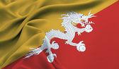 The flag of Butan — Stock Photo