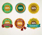 Set of retro badges. — Stock Vector