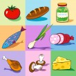 Set of food icons. — Stock Vector