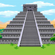 Aztec pyramid — Stock Vector