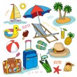 Summer time icon. — Stockvectorbeeld
