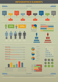 Infographic element. Population. — Stock Vector