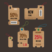 Price tags. Vector. — Stock Vector