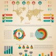 Infographic element. Statistic of population. — Stok Vektör