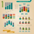 Diagrams element set — Wektor stockowy #33506775