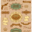 Vintage banners and labels — Stock Vector