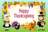 Happy thanksgiving, vector background. — Stock Vector