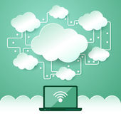 Cloud computing concept. — Stock Vector
