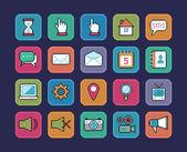 Pixel icons — Stock Vector