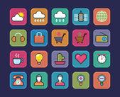 Pixel icons. — Stock Vector