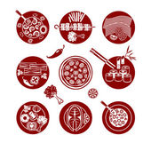 Food icons set. — Stock Vector