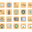 Network icons — Stock Vector #47614693