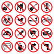 Forbidden signs — Stock Vector #48137239
