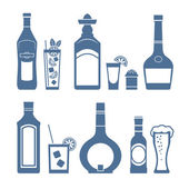 Drink icons. — Stock Vector